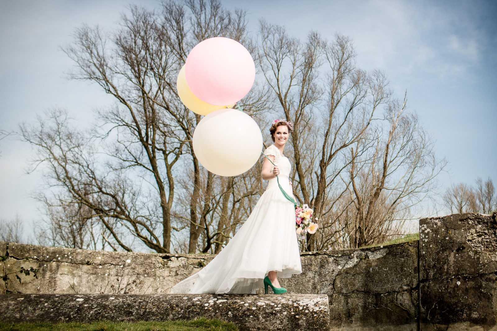 bruid ballonnen