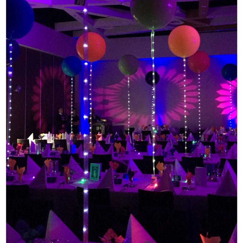 Ballonnen met LED string